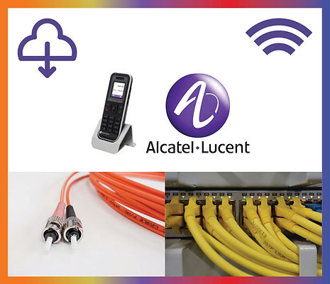 Alcatel Lucent Logo and Service Icons