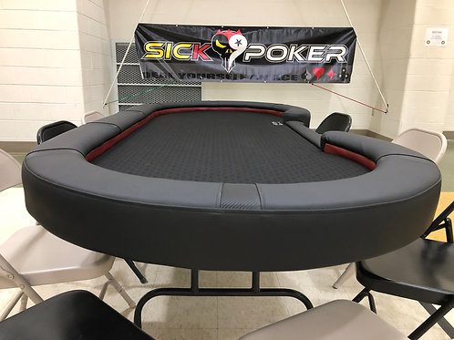 Ace of Diamonds Sick Poker Table - Two Tone Black Carbon Fiber Accents