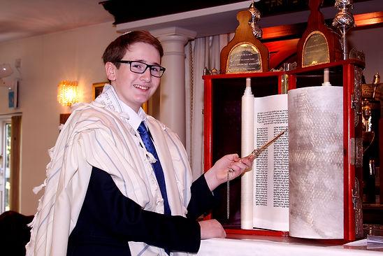 Bar Mitzvah boy with Torah