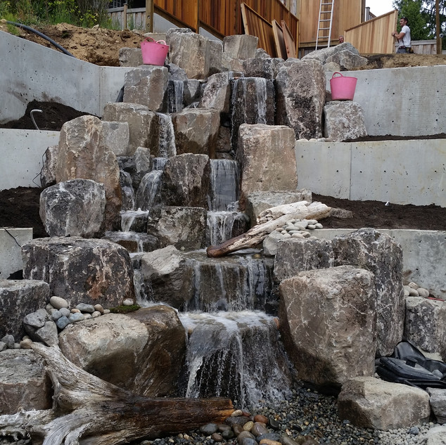 EXCAVATING SERVICES,BACKYARD FILLING, RATES,NORTH VANCOUVER, NORTH SHORE, STONE EXCAVATING, WATERFALL DESIGN, LANDSCAPING, DESIGN