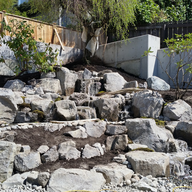 EXCAVATING SERVICES,BACKYARD FILLING, RATES,NORTH VANCOUVER, NORTH SHORE, STONE EXCAVATING, WATERFALL DESIGN, LANDSCAPING