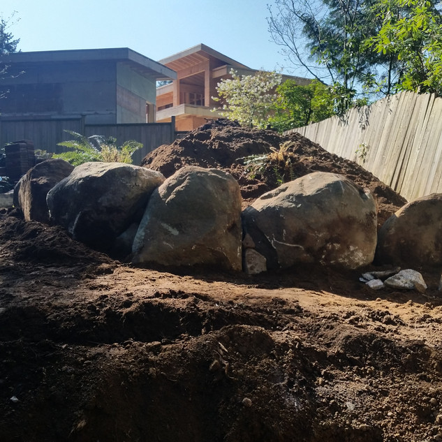 AFTER,EXCAVATING SERVICES,BACKYARD, RATES,NORTH VANCOUVER, NORTH SHORE, STONE EXCAVATING, LANDSCAPING