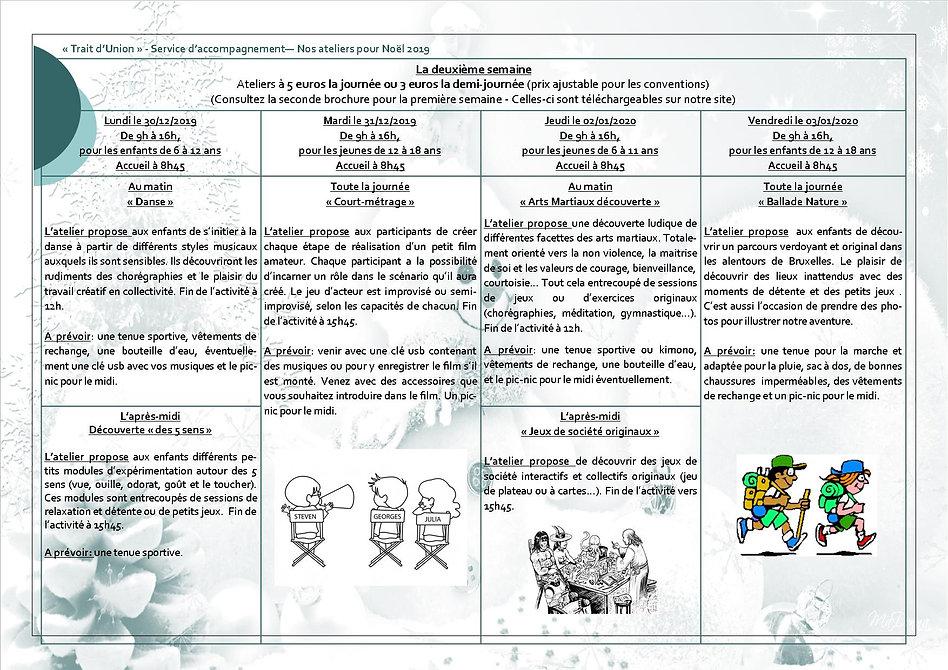 Trait d'Union Ateliers Noel 2019 2eme se