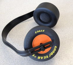 Orange Challenge Mini Tire Ear Muff
