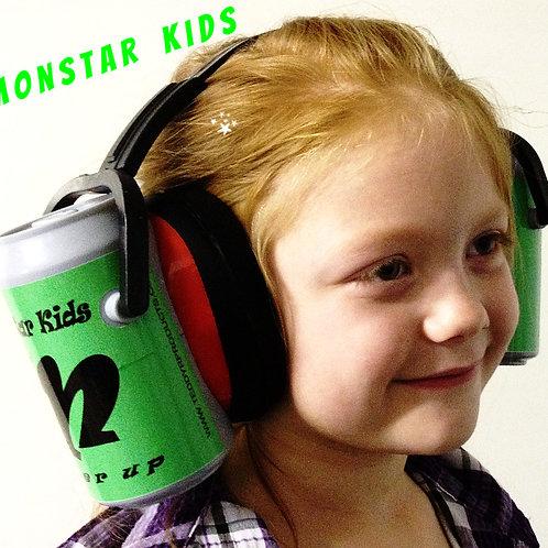 "Ear Can Soda Ear muffs Hearing Protection Novelty ""Monstar Kids"" ear muffs real"
