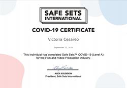 Safe Set COVID-19 Certificate