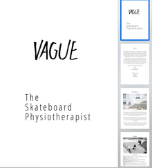 Vague Skate Mag x The Skateboard Physiotherapist PDF Self Help Guide for Skateboarders, free download during Covid-19 lockdown via Vague website.