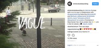 I organised an international skateboard video with Vague Skate Mag x Etnies Shoes, 2017