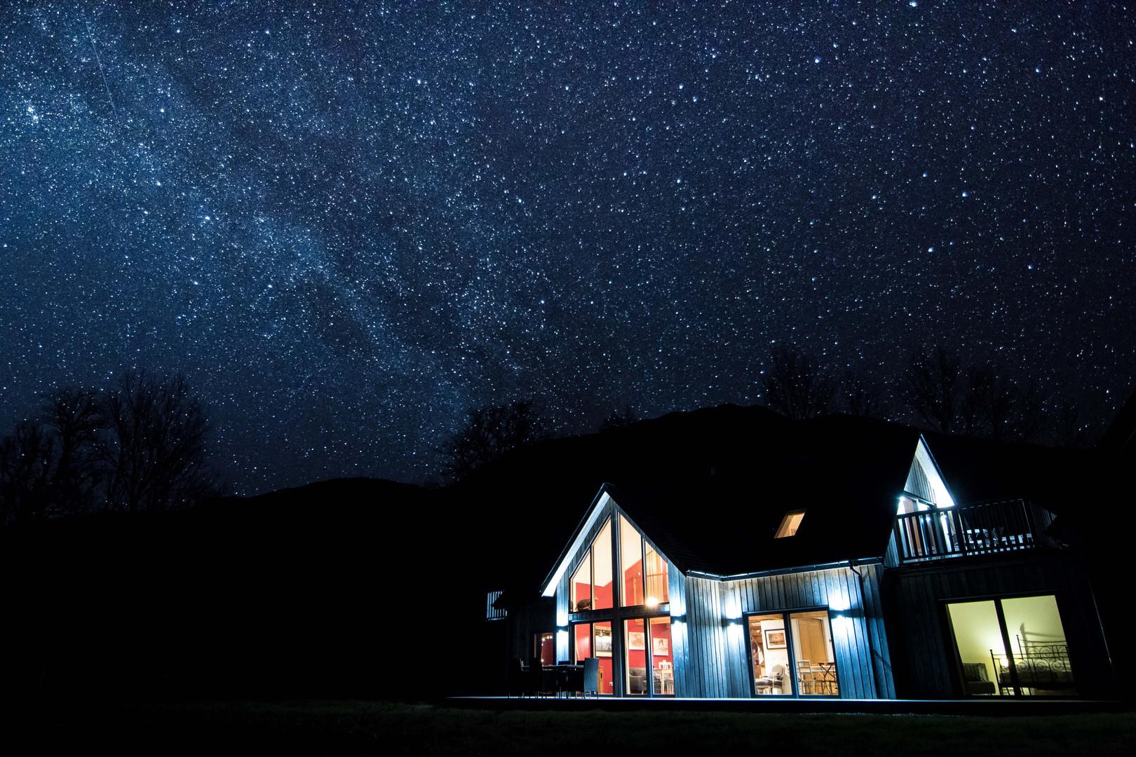 Stargazing at Knoydart River Cottage