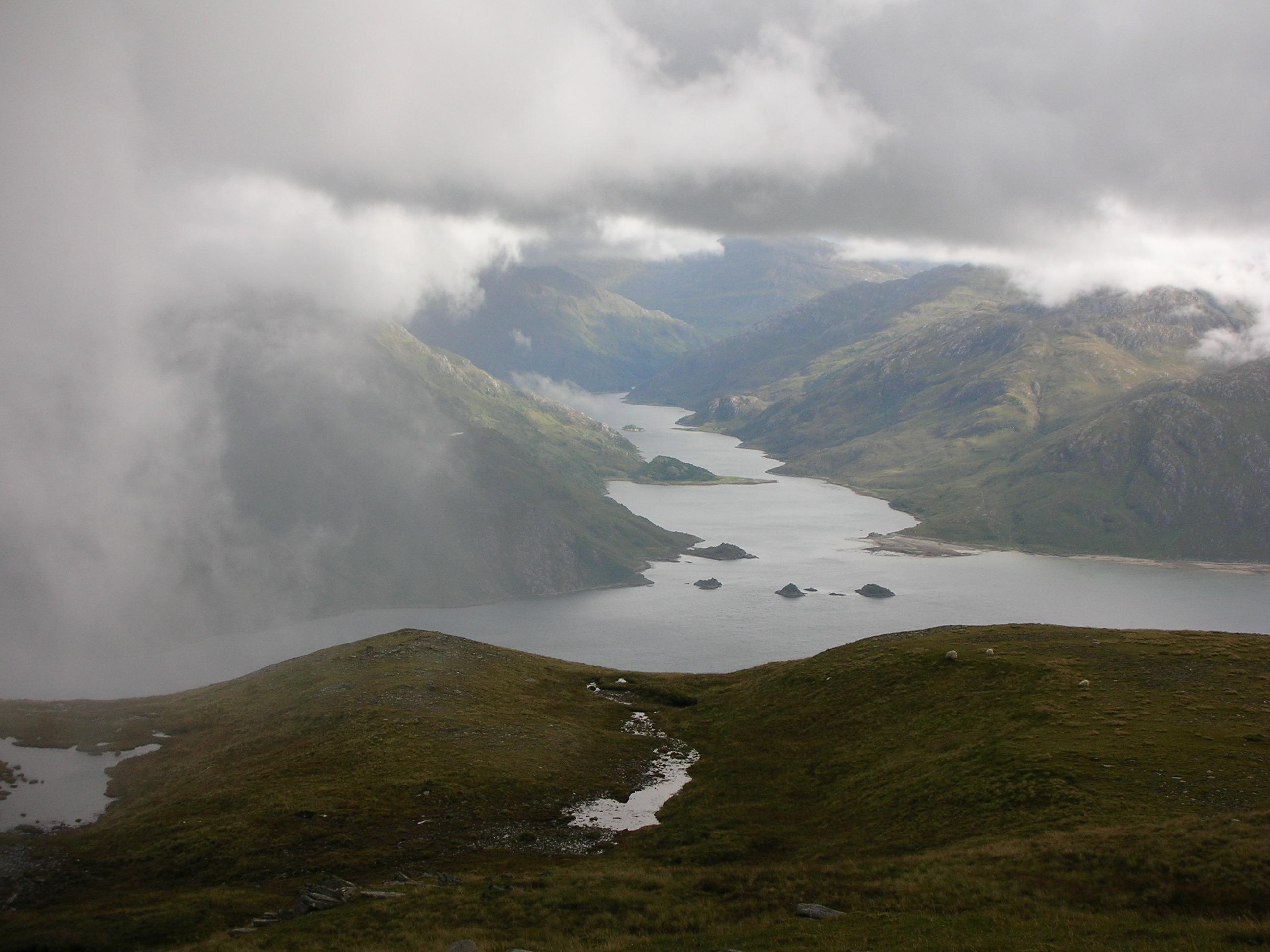Loch Hourn from Bealach Ban