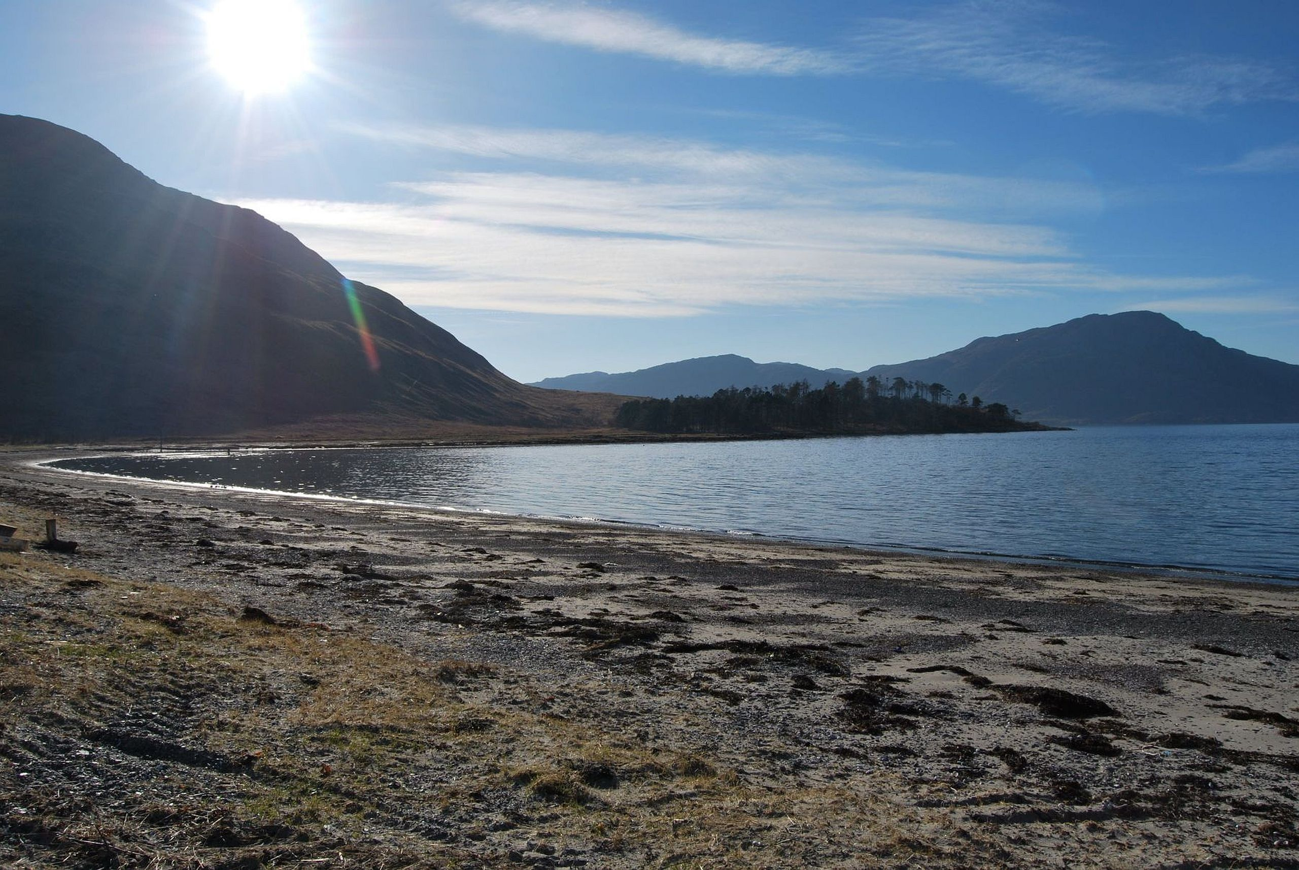 Camp Site on Long Beach, Inverie