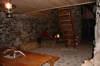 Druim Bothy Lounge Fireplace