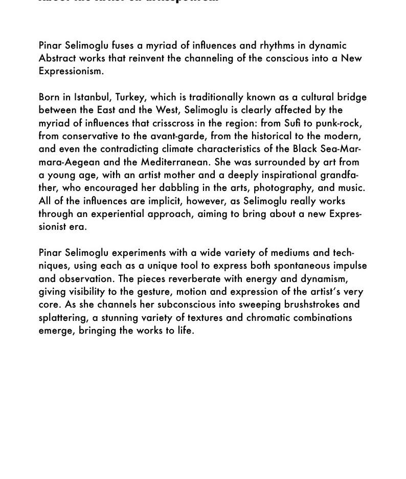About the Artist on artisspectrum