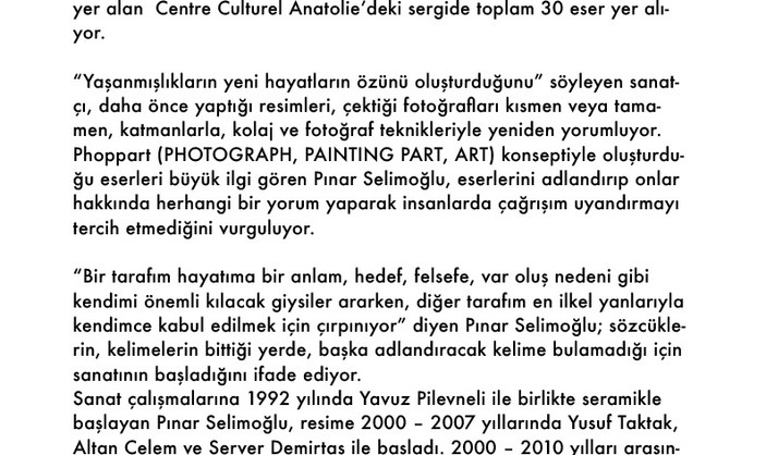 "Pınar Selimoğlu'ndan ""PhopPart à Paris"" Sergisi"