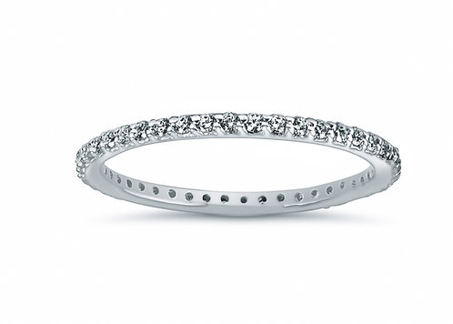 Preset Common Prong Round Diamond Eternity Band