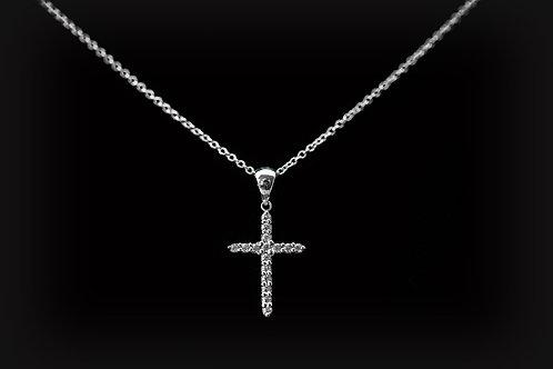 Common Prong Set Diamond Cross