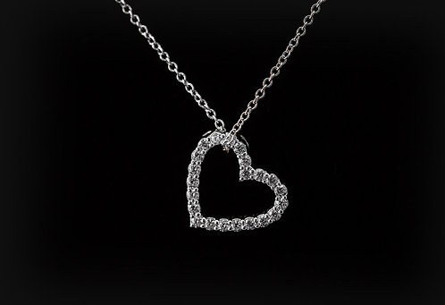 Common Prong Set Floating Heart
