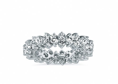 Fancy Prong Setting Round Diamond Eternity Band