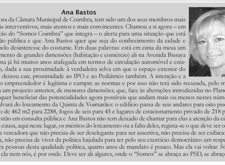 """""""Campeão das Províncias"""" destaca trabalho da vereadora Ana Bastos"""