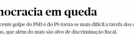 """""""Democracia em queda"""""""