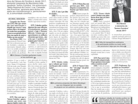 """Entrevista de Ana Bastos ao """"Campeão das Províncias"""""""