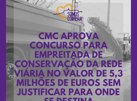 CMC aprova concurso no valor de 5,3 milhões de euros sem justificar para onde se destina