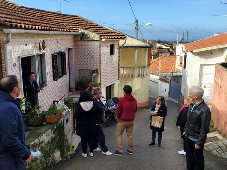 Somos Coimbra em visita ao Dianteiro, um lugar sem saneamento de águas residuais