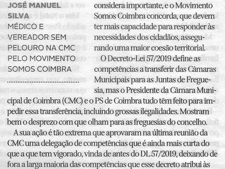 Câmara de Coimbra prejudica freguesias e não cumpre a Lei