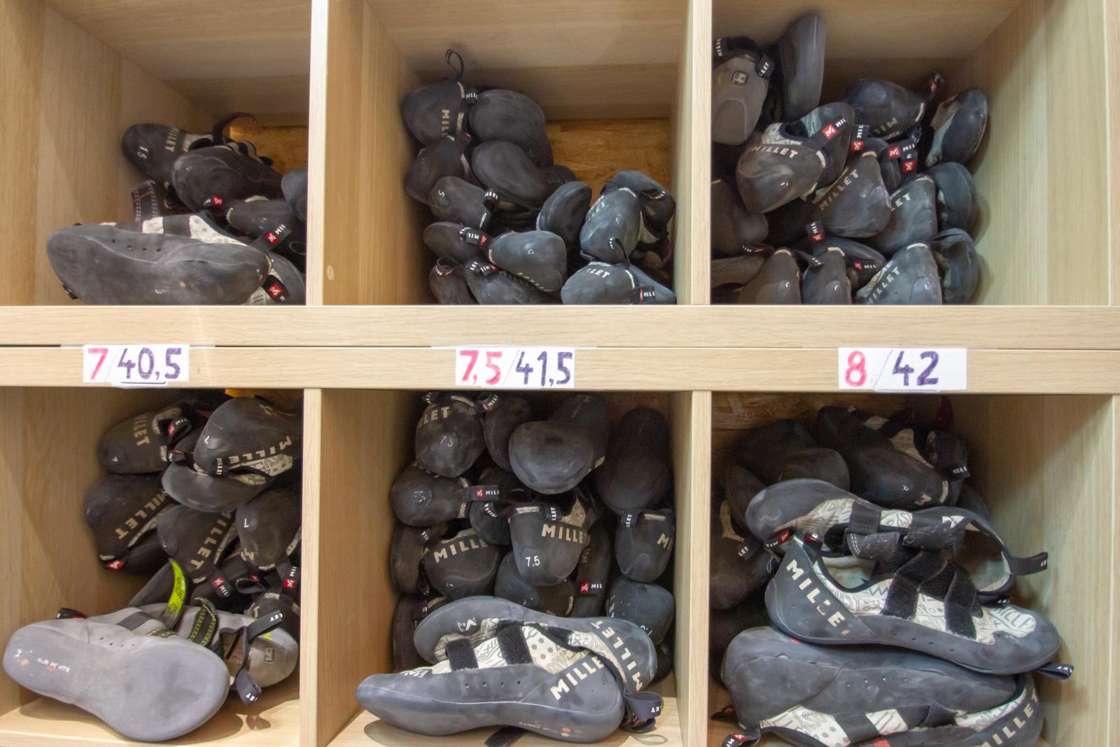 Les chaussons peuvent être loués