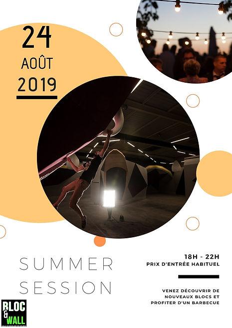 """Soirée """"Summer session"""" le 24 août"""