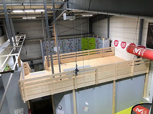 La nouvelle mezzanine est construite