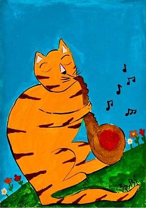 Sax Cat
