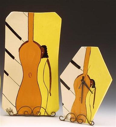 Jazz Woman Clock & Platter (Sold Separately)