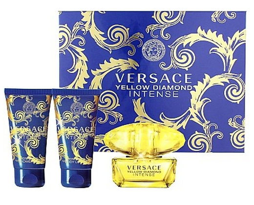 Versace Yellow women perfume set מארז ורסאצ'ה צהוב בושם לאישה