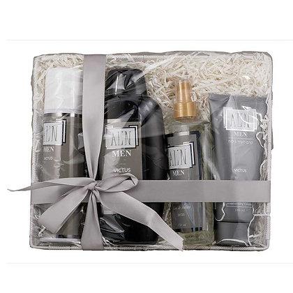 אלין מארז מתנה  מוצרי טיפוח לגבר בניחוח אינוויקטוס men gift set