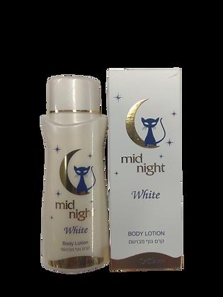 Mid Night White מיד נייט לבן חלאבין קרם גוף. מוצרי טיפוח גוף לאישה