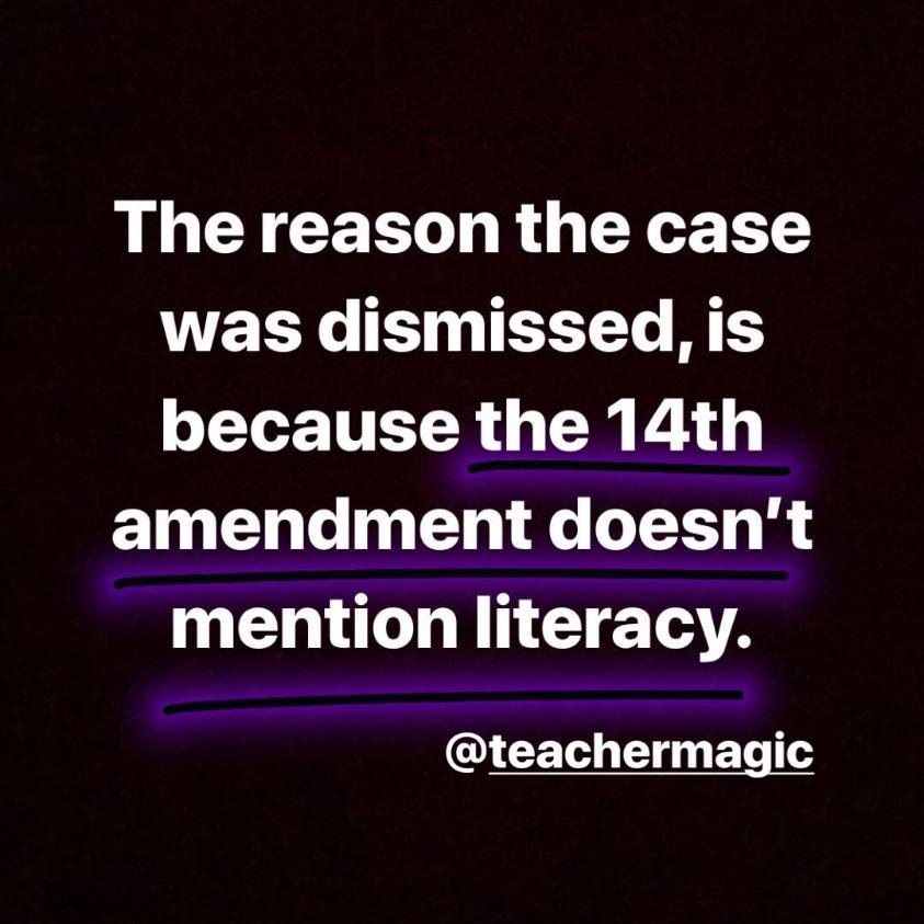 Literacy 14th amendment