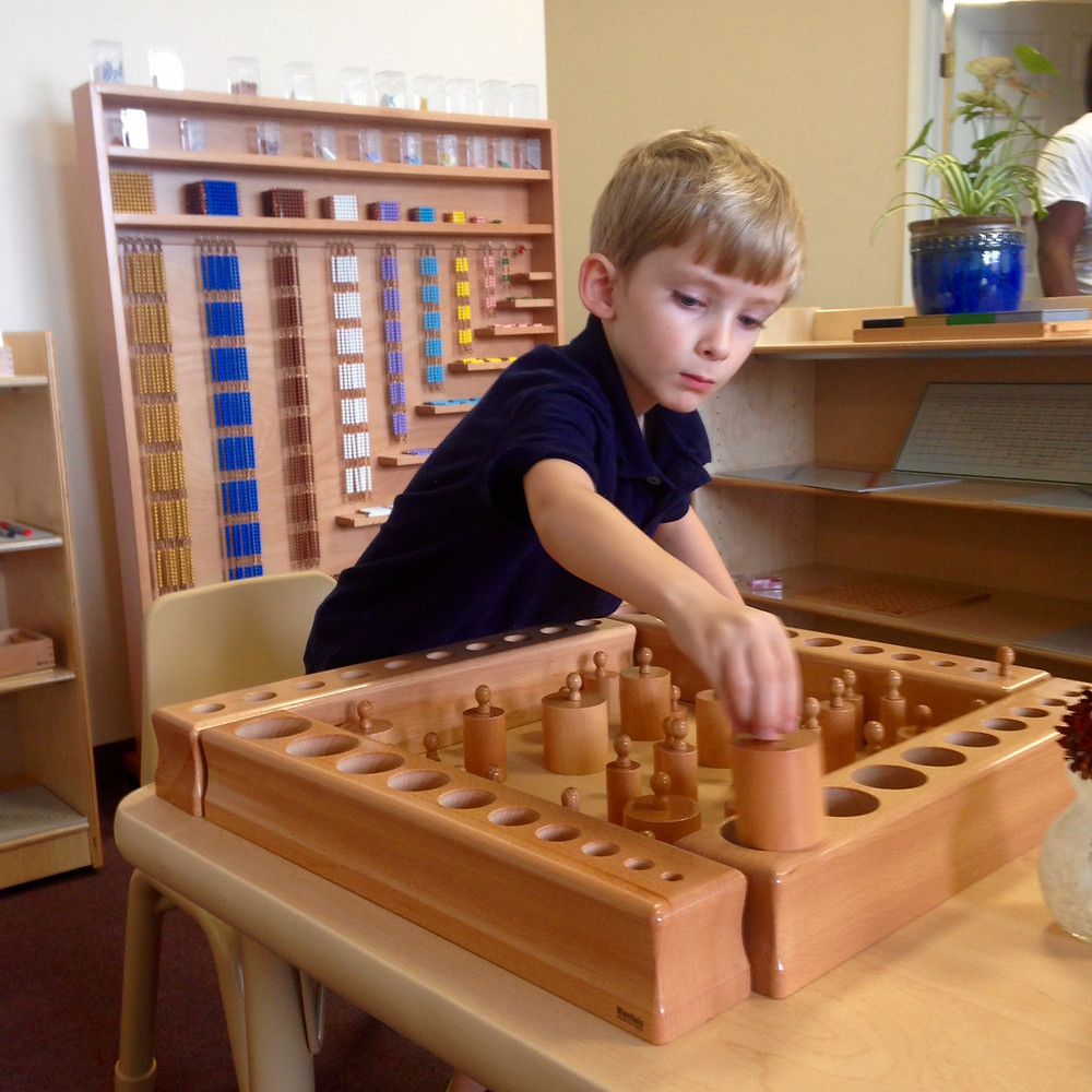 Boy Concentrating on Learning