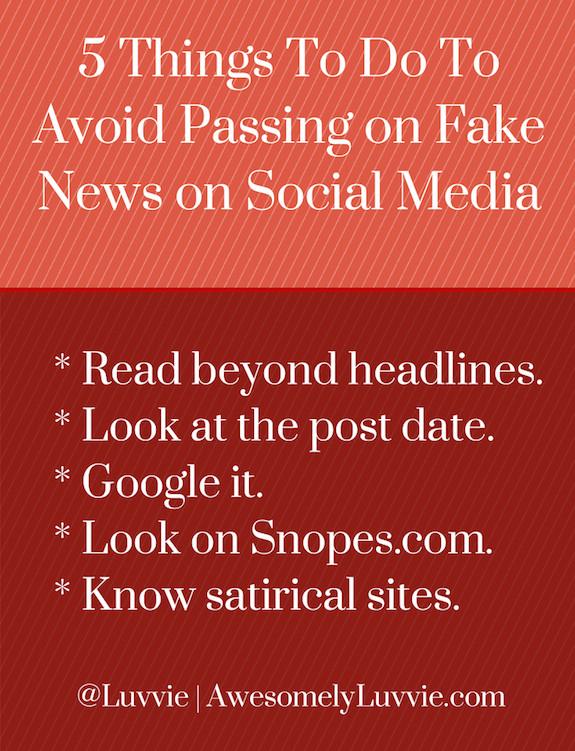 Avoid Passing on Fake News