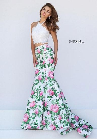Sherri Hill 50398 Ivory/Pink