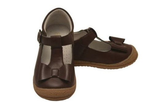 L'Amour Bow Mary Jane Shoe Dark Brown