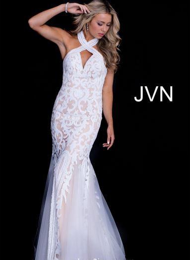 Jovani JVN53216A Ivory/Nude