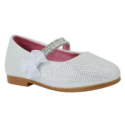 Lauren Lorraine LiLi White Flat Velcro