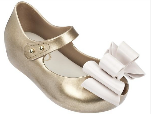 Mini Melissa Ultragirl Sweet II Gold Glitter