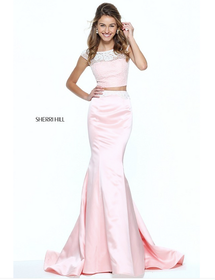 Sherri Hill 50953 Blush/Ivory