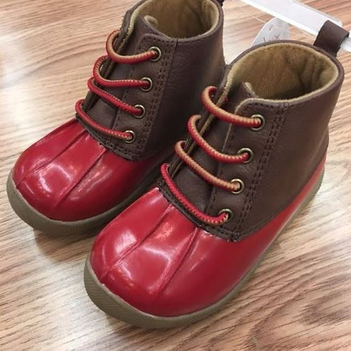 Baby Deer Duck Boot Red