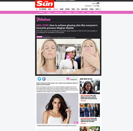 Newspaper article featuring Dermalux