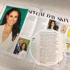 WHO magazine article featuring Dermalux