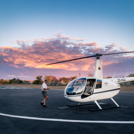 Helicopter flights on Greater Kuduland Safaris