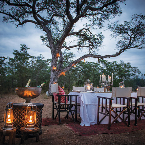 Bush Dinner on Greater Kuduland Safaris